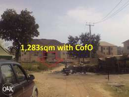 Res. Plot (1,283sqm)with C of O at Games Village, Opp. Catholic School