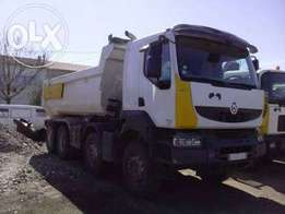 Renault Kerax Tipper Truck 450 DXI Manual Gearbox Year Of Manufactu