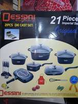 21pc Nonstick Dessini cook and serve.