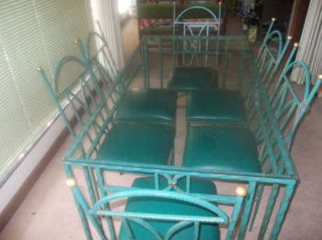 Wrought Iron Glass top table with 6 x chairs Roodepoort - image 2