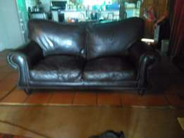 Kudu Leather two seater Couch