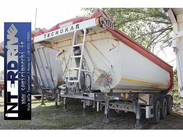 semirimorchio vasca ribaltabile 27m3 usata - 2005