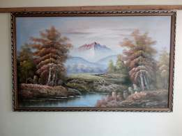 Framed Wall painting (on canvas)