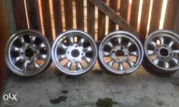 13 Inch cyclone chrome tiger mags for sale.
