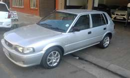 Toyota tazz 1.6 silver in color 2002 model 96000km R48000 for sale