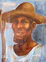 Diligent Toil: man with a straw hat