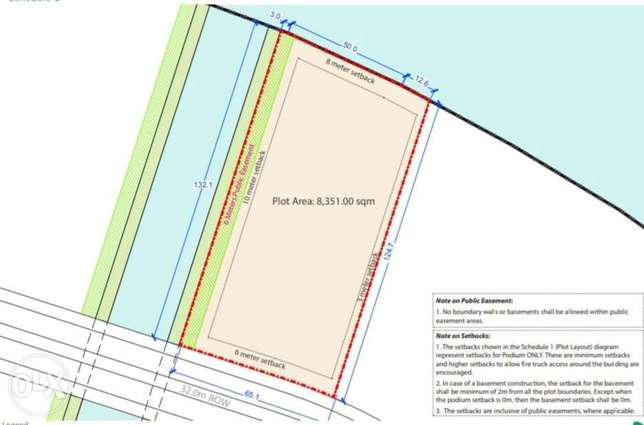For Sale Sea view investment Land in Dilmunia overlooking the sea المحرق‎ -  1
