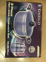 BRAND NEW Kinelco Luxury Set of 3 Non Stick Pots