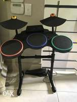 Sony Play Station drum and guitar set with games