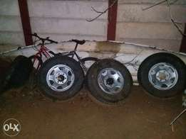 Toyota hilux steel rims and tyres