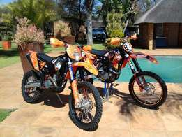 Ktm sx-f450 & Ktm xcfw 250 and trailor
