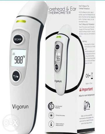 Medical Forehead and Ear Thermometer, Digital Infrared ترمومتر ديجيتال