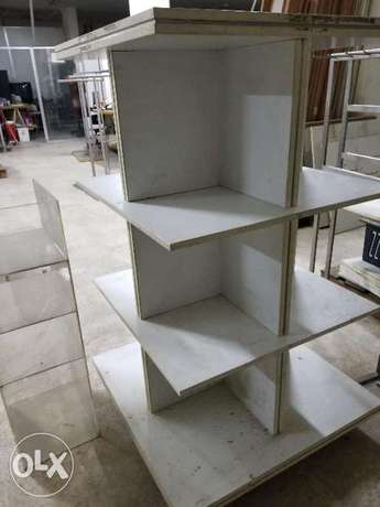 White wood Rack, Stand, Box Style Strong wood 4 sided, 16 holes. Big