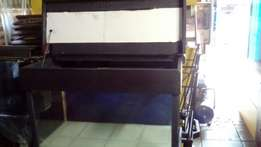 Custom made fish tank with double base glass and cabinet