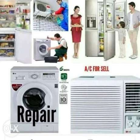 Washing machine and AC for repair.