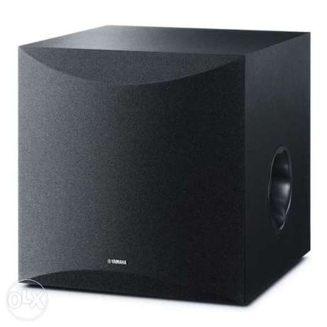 Yamaha NS-SW100BL Powered Subwoofer صاب ياماها