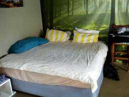 King size bed with individual coils.
