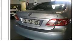 selling toyota proffesional corolla 2012