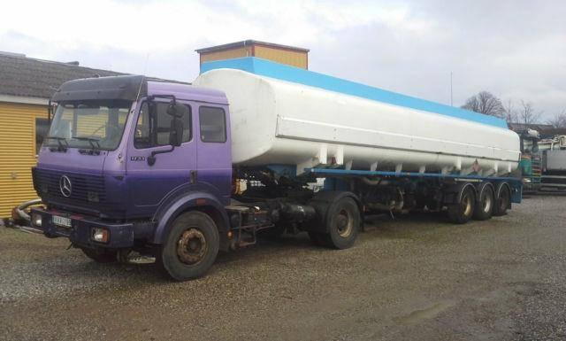 Kaessbohrer Mercedes Tankzug 43000 Liter petrol pomp meter - 1992