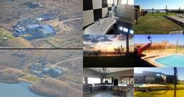 Prime property for sale next to Klerksdorp dam: 7.06ha, 206m Waterfron