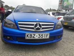 Mercedes benz C180 wrapped blue