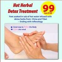Thai foot soak and massage, R99