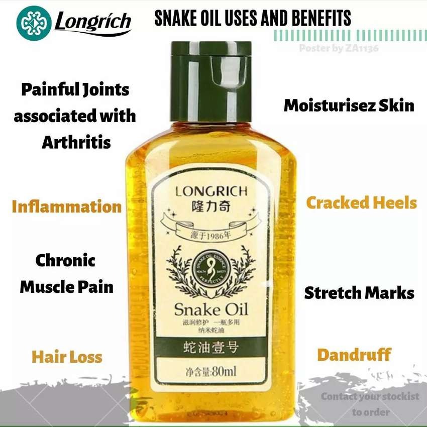Longrich Snake Oil Health Beauty Amp Cosmetics 1058820086