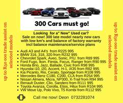 "300 ""Nearly New"" cars looking for homes"
