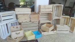 Wooden crates and boxes available.