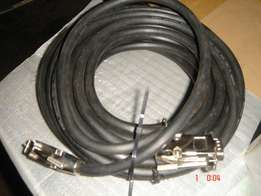 VGA cables, Power supply cables(kettle cord) for PC boxes and monitors