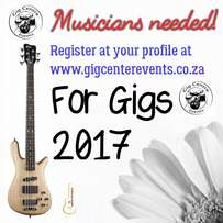 Musicians needed for gigs
