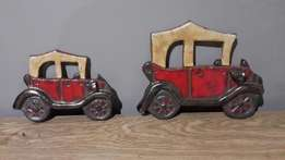 Wall mountable vintage cars. Clay.