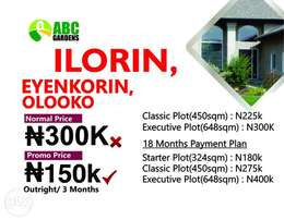 Secure a piece of land at Ilorin Eyenkorin Olooko