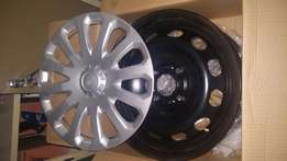 "15"" Original Ford Steel Rims, 4/108 PCD, With Hub Caps"