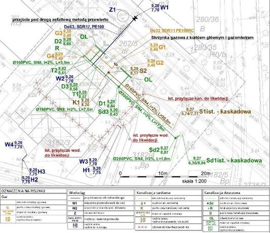 Poważne Projekty instalacji sanitarnych wod, kan, gaz, c.o. Projektant YL94