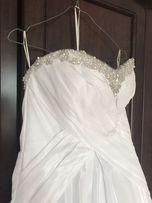 3a50093132 Zjawiskowa suknia ślubna Jasmine tren swarovski rozmiar 36 gratisy