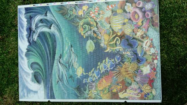 1500 piece completed ocean puzzle River Crescent - image 6