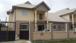 There is a spaciously built 5 Bedroom Duplex with a room Bq in Ajah