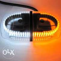 Dual Color Amber & White 240-LED Snow Plow Safety Strobe Light Warning