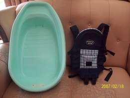 Baby bath and carrier combo
