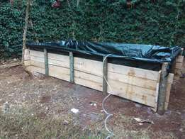 Fish pond construction and fingerlings for sale