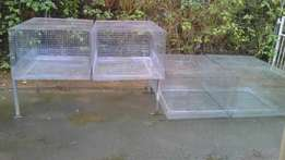 Four Huge Galvanized Avairies For Sale