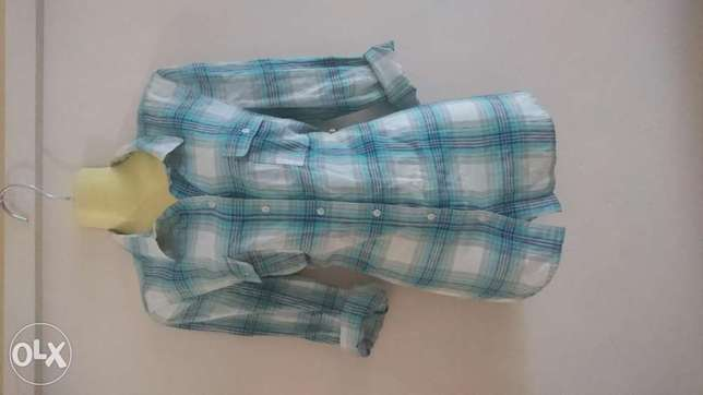 Blue checked shirt Hamza - image 1