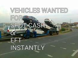 Vehicles wanted urgently in any condition.
