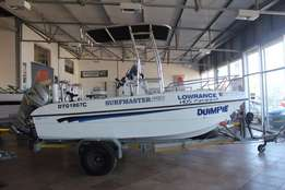 490 Surfmater with 2 x 60 Hp Honda Fourstoke engines