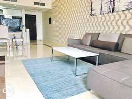Offer price, modern, 2BR apartment furnished for rent in amwaj island