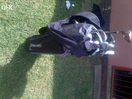 Golf clubs and bag for sale Dunlop and Spalding mixed