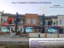 2 Units of 4 Bedroom Terrence Duplex at Lekki 2nd Toll Gate, Lagos