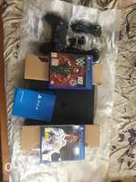 New ps4 with fifa 18 nd wwe2k18