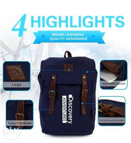 Discovery Adventures Travel Canvas Cover Backpack Sport Bag - Deep Blu